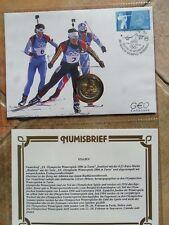 Numisbrief 2 Euro 2006 Italien Turin Olympische Winterspiele Biathlon
