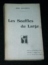 LES SOUFFLES DU LARGE - RARE RECUEIL POESIE REMY BEAURIEUX - TASSEL E.O. 1908