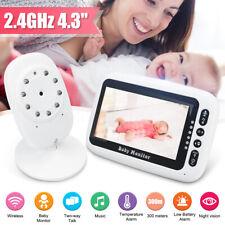 4.3' Audio Video Baby Monitor Digital Camera WiFi Internet Viewing Night Vision