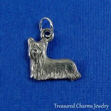 SILVER YORKSHIRE TERRIER CHARM Yorkie Puppy Dog PENDANT