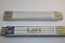 Zollstock mit Namen  LARS  Lasergravur 2 Meter Handwerkerqualität