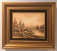 Framed Oil Painting On Canvas 8x10 Landscape  By P. Kay Ton In Wood Frame w/ COA