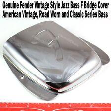 Genuine Fender Vintage Style Jazz J Bass F Logo Bridge Cover 0010678000 NEW