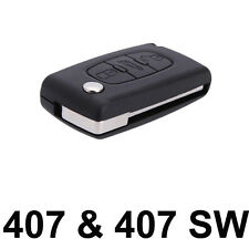 For Peugeot 407 & 407 SW NEW 3 Button FOB Remote Key CASE Uncut Blade VA2 K24