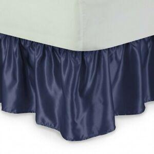 "1 SOLID BEDDING DRESSING BED RUFFLED SKIRT MULTILAYERED PLATFORM 20"" INCH DROP"