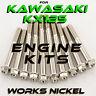 Works Nickel ENGINE Bolt Kit for Kawasaki KX125 | Hardware for your restoration!