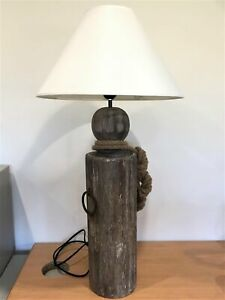 Post With Fisherman's Rope Lamp Lamp Desktop Light Office Home Decor Nautical