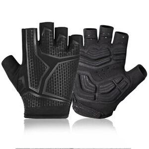 MTB Handschuhe Halbfinger Rennrad Handschuhe rutschfeste QIMANZI Fahrradhandschuhe Atmungsaktive Training Handschuhe f/ür M/änner /& Frauen und LED-Signalleuchten