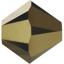 288 PEZZI Bicono Mc Crystal mm 6 Jet Gold Bronze