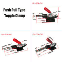 Push Pull Toggle Clamp Holding Release Holder Metal Plastic 227/386/680kg
