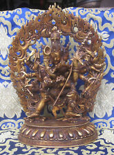 Antique Master Quality Gold Plated Chakrasamvara Yab Yum Rupa, Nepal