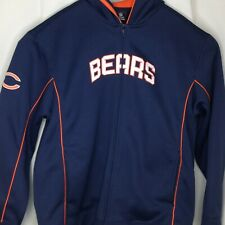 Chicago Bears Fleece Sweat Jacket NFL Team Apparel Reebok Hooded size Large L