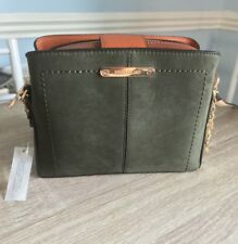 River island Khaki triple compartment bucket crossbody bag BNWT IN STORES NOW