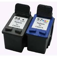 HP56+HP57 Reman Ink Cart 22% More Ink Office Jet 4110 4110V 4110XI 4215 5500