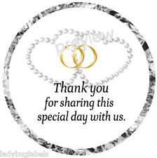 108 HERSHEY KISS GLOSSY STICKER LABELS -THANK YOU FOR SHARING OUR SPECIAL DAY #4