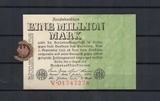 ALLEMAGNE Germany  Reichsbanknote  Billet 1 million marks 09/08/1923