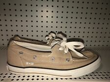 Converse One Star Mens Canvas Athletic Shoes Sneakers Size 9 Beige