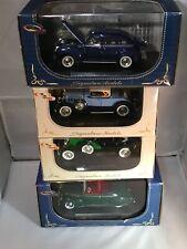 1/32 Scale Model Car Lot Of 4 - 1939 Lincoln Zephyr, 1934 Dusenberg ++ J*