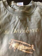 Decemberists t-shirt 1990s original size L biplane