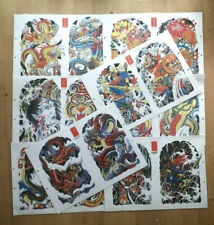 Henning Flash 8 sheets Art and Line Art A3 Laminated 2001 and 2002 as imaged