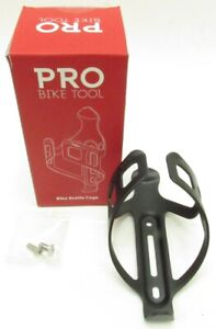 Pro Bike Tool Black Aluminum Water Bottle Cage For Bicycles -H7