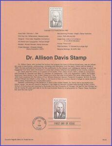 USA5 #2816 U/A SOUVENIR PAGE FDC   Dr. Allison Davis Black Heritage