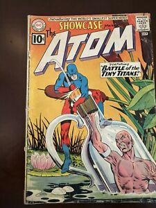 Showcase #34 1961 1st app. Silver Age Atom