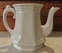 White Ironstone Ridgway Bates & Co Chamber White Ironstone Coffee Pot NO LID