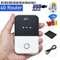 Portable 4G LTE Mobile Router WiFi Wireless Pocket Hotspot Smart Modem Unlocked