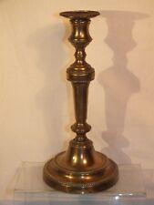 § Bougeoir ancien en bronze 19è - à rangs de perle §