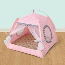 New listing Pink Large Puppy Pet Dog Cat Bed Cushion House Fleece Cool Warm Kennel Mat Pink