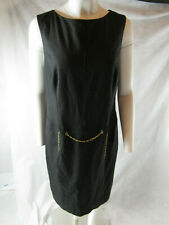 NWT Escada Kleid Dress Grey w/ Chain SZ44 Retail $995
