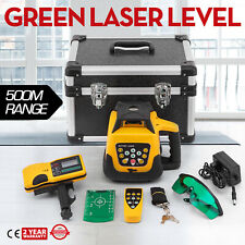 Rotary Laser Level Green Beam 500m Range 360° Spinning Horizontal Automatic