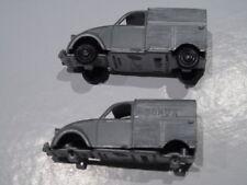 Lot de 2CV Citroën fourgonette Bonux Clé 1/64 N°3,  cadeau, 2 modèles différents