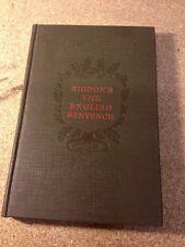 Jonathan Rigdon Language And Grammar Course English Sentence Book 1921 Danville