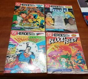 DC Heroes RPG Module Lot of 4 SUPERMAN DOOM PATROL TEEN TITANS BOOSTER GOLD