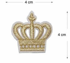 Crown Embroidered Iron On Sew Patch embroidery badge King Queen applique Motif