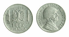 pcc1712_6) ALBANIA Vittorio Emanuele III  (1939-1943) 1 LEK 1939