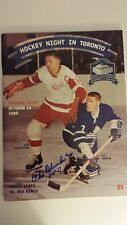10-10-98 Maple Leaf Gardens Final Opening Day Program signed by ALEX DELVECCHIO