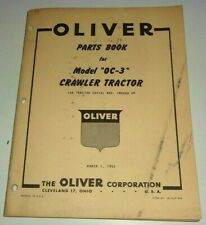 Oliver OC-3 Crawler Tractor Parts Catalog Book ORIGINAL! MARCH 1952 Dealers