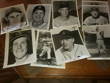 Lot of 8 Signed  Photos of older Major League Baseball Players