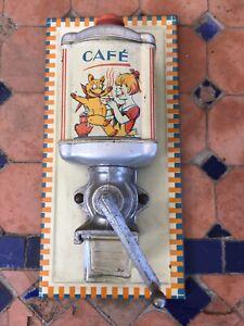 Moulin à café mural de dînette jouet ancien
