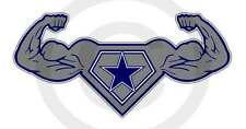 "Dallas Strength Texas Power Sticker Lone Star Cowboy Up Decal Size Small 6""x3"""