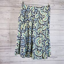 LuLaRoe Womens Madison Skirt Sz XS Blue Paisley Pockets