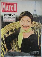 Paris Match n°278- 1954 - Genève Récit & Photos - Zizi Jeanmaire