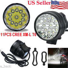 28000LM Waterproof 11 x CREE XM-L T6 LED 8 x 18650 Bicycle Cycling Light Lamp