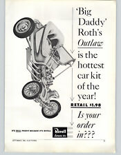 1962 PAPER AD Revell Authentic Scale Model Big Daddy Roth's Outlaw Hot Rod Car