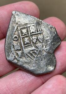 (1731-1733) Mexico 8 Reales F/VF Detail Silver Cob Philip V KM47a 25.79g