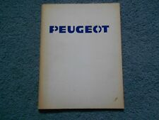 LATE 1970's PEUGEOT COMPANY HISTORY BOOK BROCHURE AD ORIGINAL OEM PUBLICATION