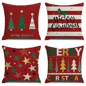Vintage Xmas Tree Star Pillow Case Sofa Car Cusion Cover Christmas Pillowcase YO